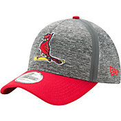 New Era Men's St. Louis Cardinals 39Thirty Clubhouse Grey/Red Flex Hat