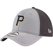 New Era Men's Pittsburgh Pirates 39Thirty Grayed Out Grey Flex Hat