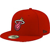 New Era Men's Miami Heat 59Fifty Burgundy Fitted Hat