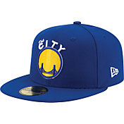 New Era Men's Golden State Warriors 59Fifty Hardwood Classics Royal Fitted Hat