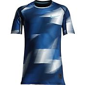 Nike Boys' Pro Cool Short Sleeve Printed Shirt