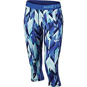Nike Girls' Pro Cool Geoprism Printed Capris
