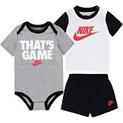 Nike Newborn Boys' That's Game T-Shirt, Bodysuit, and Shorts Three-Piece Set