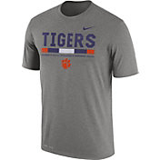 Nike Men's Clemson Tigers Grey Football Staff Legend T-Shirt