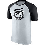 Nike Men's Georgia Bulldogs Oatmeal/Black Gridiron Grey Jersey Hook T-Shirt