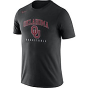 Nike Men's Oklahoma Sooners Black Dri-FIT Cotton Basketball T-Shirt