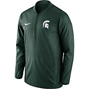 Nike Men's Michigan State Spartans Green Lockdown Half-Zip Performance Jacket
