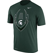 Nike Men's Michigan State Spartans Green Football Icon Legend T-Shirt