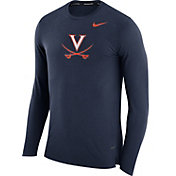 Nike Men's Virginia Cavaliers Blue March Basketball Performance Long Sleeve Shirt