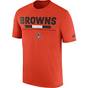 Nike Men's Cleveland Browns Sideline 2017 Legend Staff Performance Orange T-Shirt