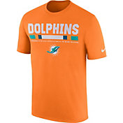 Nike Men's Miami Dolphins Sideline 2017 Legend Staff Performance Orange T-Shirt
