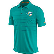 Nike Men's Miami Dolphins Sideline 2017 Early Season Aqua Polo