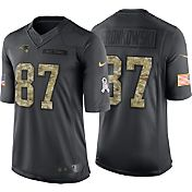 Nike Men's Home Limited Jersey New England Patriots Rob Gronkowski #87 Salute to Service 2016