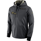 Nike Men's Baltimore Ravens Salute to Service 2016 Anthracite Pullover Hoodie