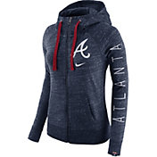Nike Women's Atlanta Braves Vintage Navy Full-Zip Hoodie