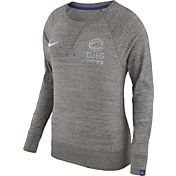 Nike Women's Chicago Cubs Gym Vintage Grey Pullover Crew