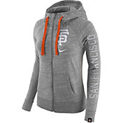 Nike Women's San Francisco Giants Vintage Grey Full-Zip Hoodie