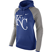 Nike Women's Kansas City Royals Grey Therma Pullover Hoodie