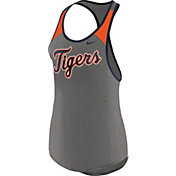 Nike Women's Detroit Tigers Dri-FIT Grey Wordmark Tank Top
