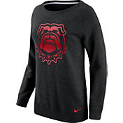 Nike Women's Georgia Bulldogs Champ Drive Boyfriend Crew Black Sweatshirt