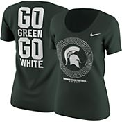 Nike Women's Michigan State Spartans Green 2016 Football Fan T-Shirt