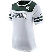 Nike Women's Michigan State Spartans White/Green Modern Fan T-Shirt
