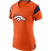 Nike Women's Denver Broncos Fan V Orange T-Shirt