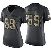 Nike Women's Home Game Jersey Carolina Panthers Luke Kuechly #59 Salute to Service 2016