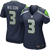 Nike Women's Home Game Jersey Seattle Seahawks Russell Wilson #3
