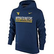 Nike Youth West Virginia Mountaineers Blue Therma-FIT Hoodie