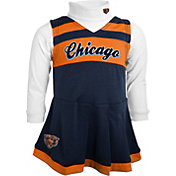 NFL Team Apparel Girls' Chicago Bears Cheer Navy Jumper