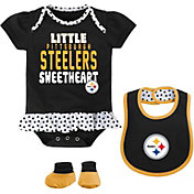 NFL Team Apparel Infant Pittsburgh Steelers Bib & Booty Set