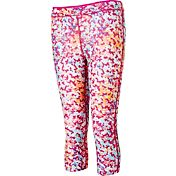 Reebok Girls' Warm Weather Printed Compression Capris