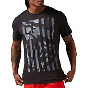 Reebok Men's CrossFit Camo Flag Graphic Pocket T-Shirt