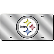 Rico Pittsburgh Steelers Silver Laser Tag License Plate