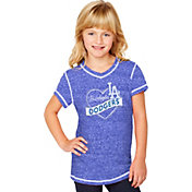 Soft As A Grape Youth Girls' Los Angeles Dodgers Royal V-Neck Shirt