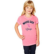 Soft As A Grape Youth Girls' Chicago White Sox Tri-Blend Pink V-Neck T-Shirt