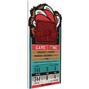 That's My Ticket Memphis Grizzlies Inaugural Game Canvas Ticket
