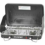 Stansport Two-Burner Stove with Piezo Ignition