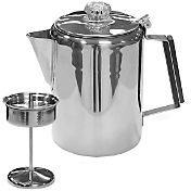 Stansport 9 Cup Stainless Steel Percolator Coffee Pot