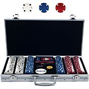 Trademark Poker 300 Chip Big Slick Texas Hold'Em Set and Case