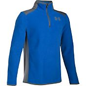 Under Armour Boys' ColdGear Infrared Fleece Quarter Zip Long Sleeve Shirt