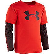 Under Armour Toddler Boys' Big Logo Power Slider Long Sleeve Shirt