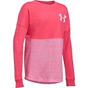 Under Armour Girls' Varsity Crewneck Long Sleeve Shirt
