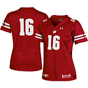 Under Armour Women's Wisconsin Badgers #16 Red Replica Football Jersey