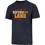'47 Men's Cleveland Cavaliers Defend The Land Navy T-Shirt