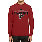 '47 Men's NFC Champions Atlanta Falcons Splitter Red Long Sleeve Shirt