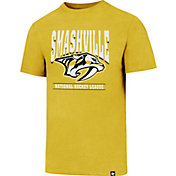 '47 Men's Nashville Predators Smashville Logo Gold T-Shirt