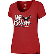 '47 Women's 2017 NHL Stanley Cup Playoffs Washington  Capitals Red T-Shirt