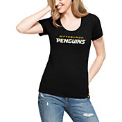 '47 Women's Pittsburgh Penguins Club Black Scoop Neck T-Shirt